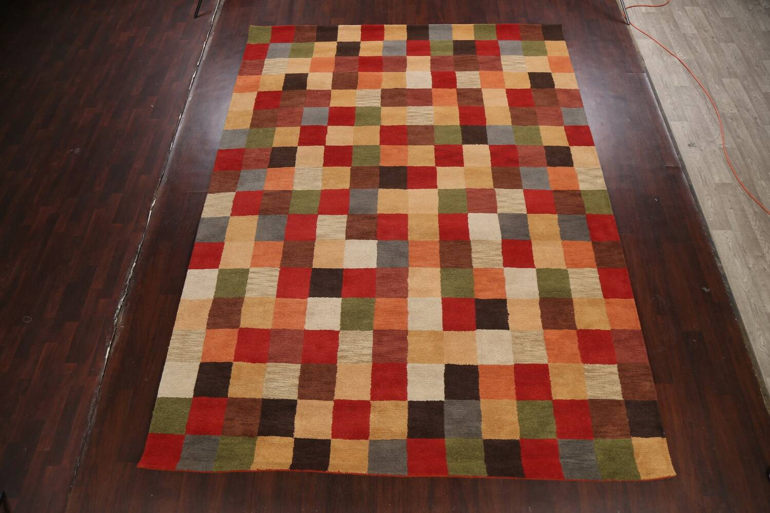 Checkered Area Rug 9x12 image 12
