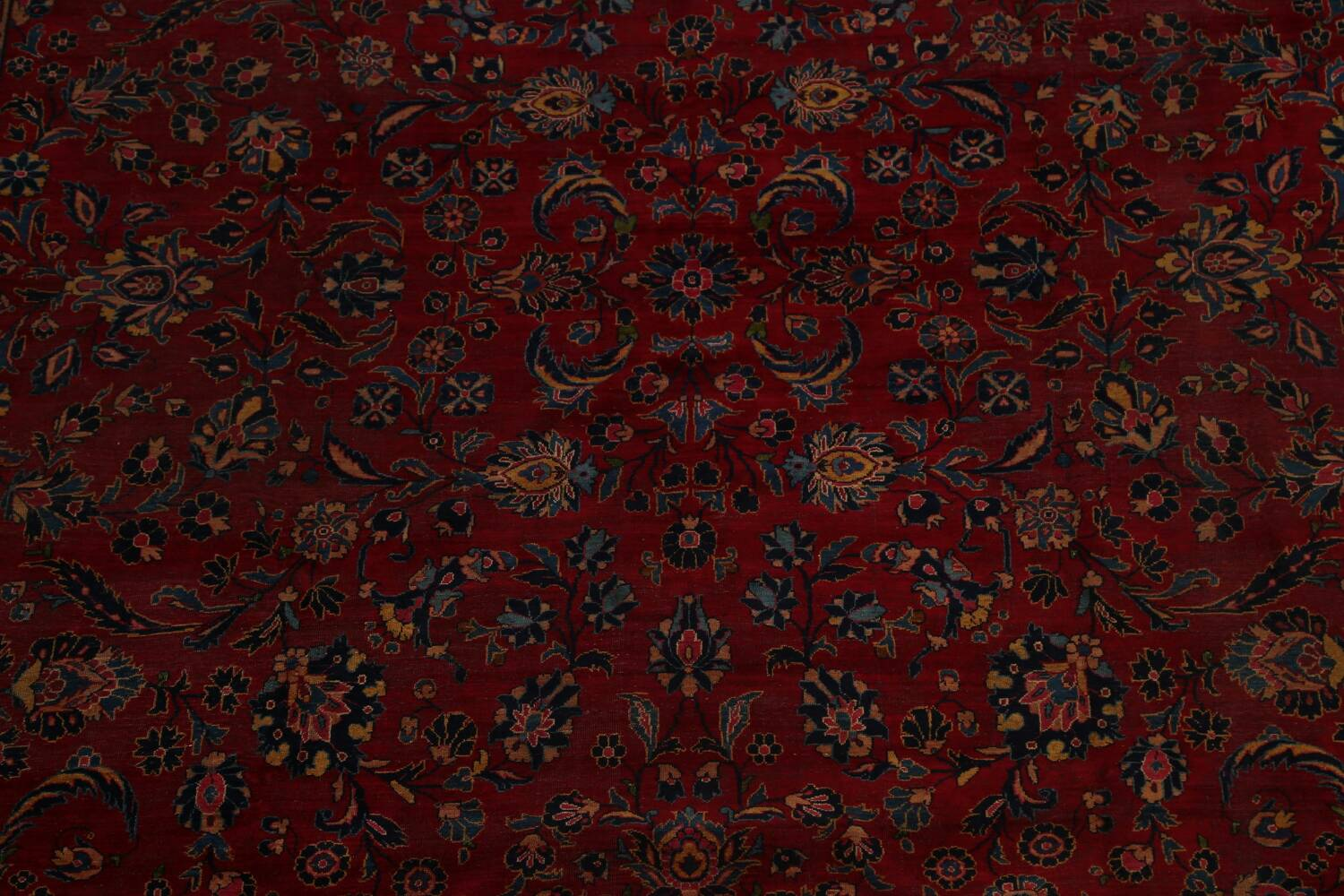 Pre-1900 Antique Vegetable Dye Sarouk Persian Area Rug 11x15 image 4