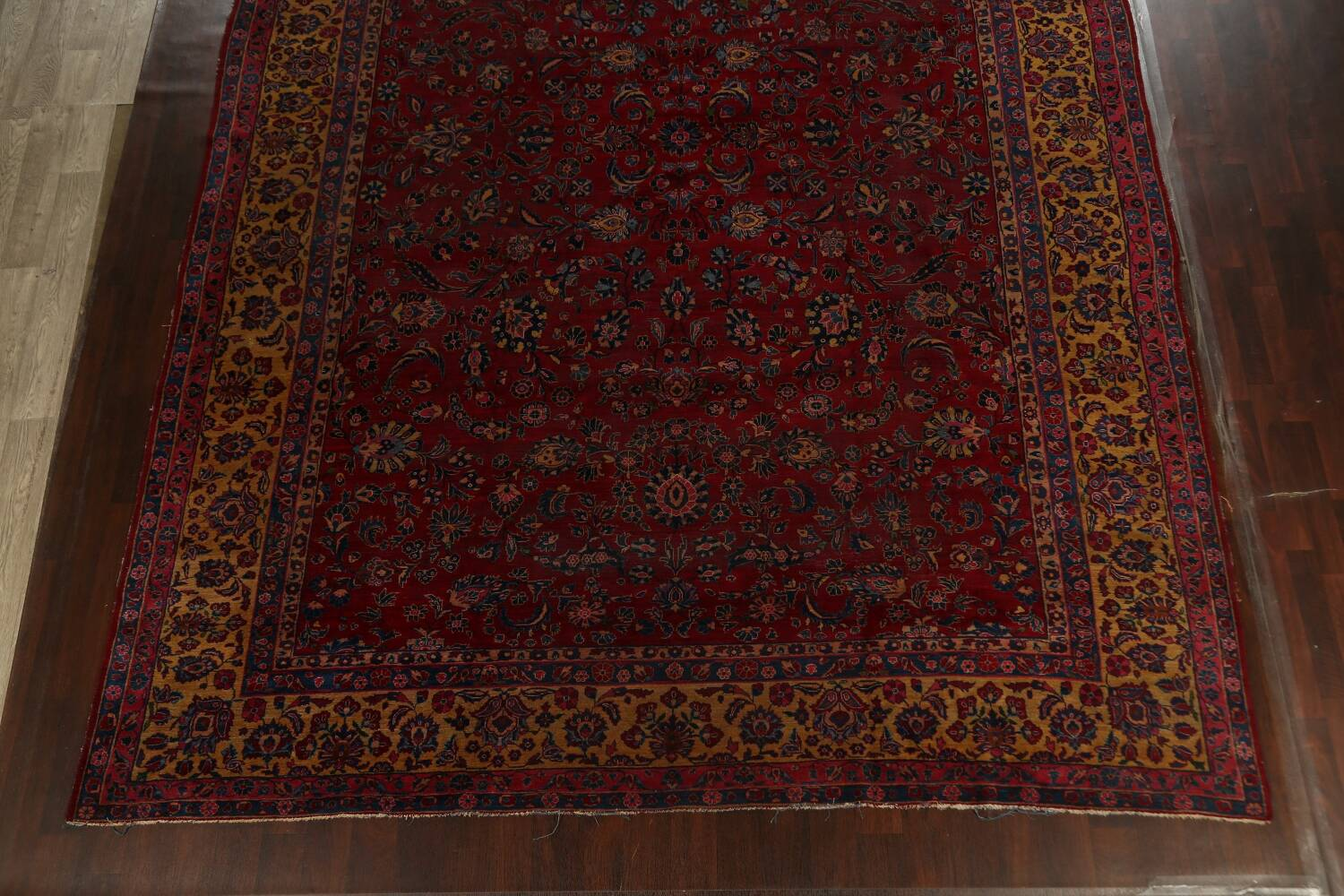 Pre-1900 Antique Vegetable Dye Sarouk Persian Area Rug 11x15 image 8