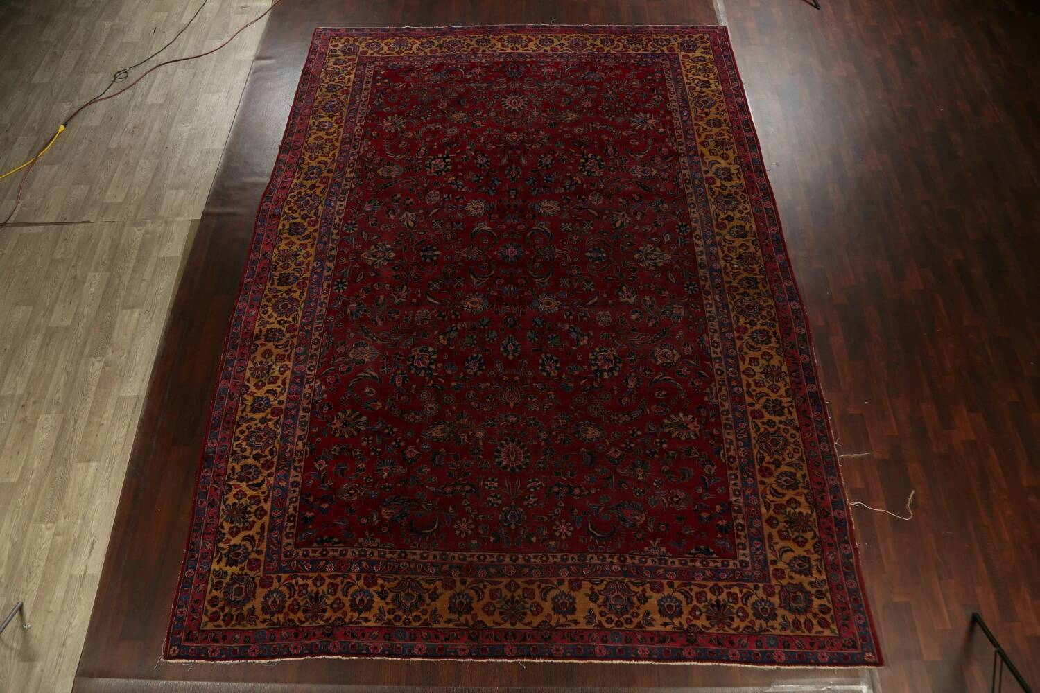 Pre-1900 Antique Vegetable Dye Sarouk Persian Area Rug 11x15 image 16