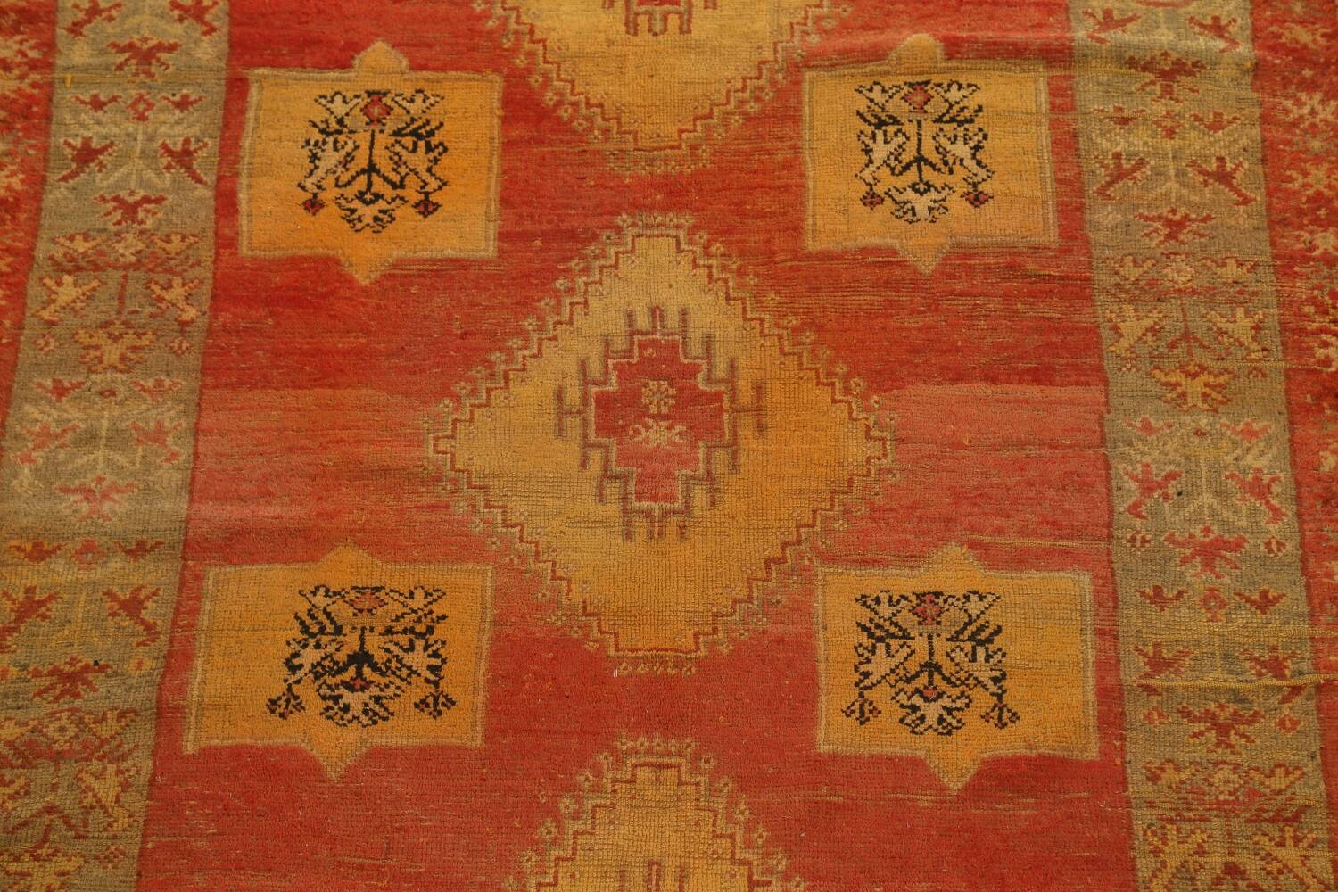 Antique Tribal Moroccan Oriental Runner Rug 6x14 image 4