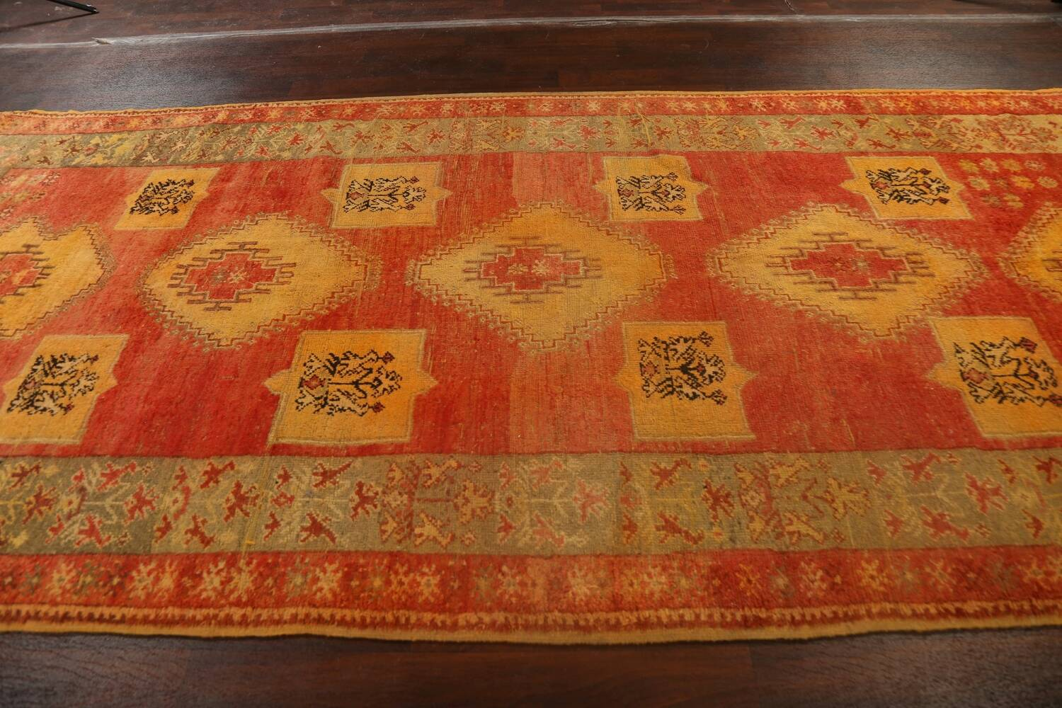 Antique Tribal Moroccan Oriental Runner Rug 6x14 image 16