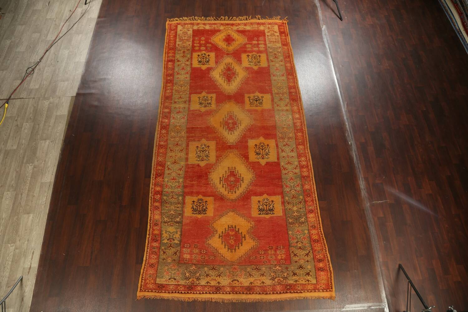 Antique Tribal Moroccan Oriental Runner Rug 6x14 image 17