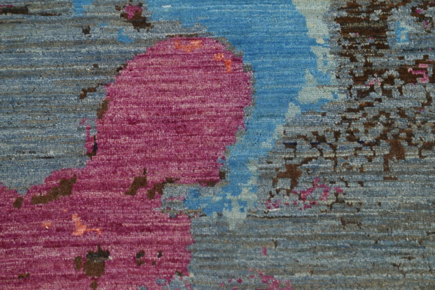 Artistic Contemporary Abstract Oriental Runner Rug 3x9 image 11