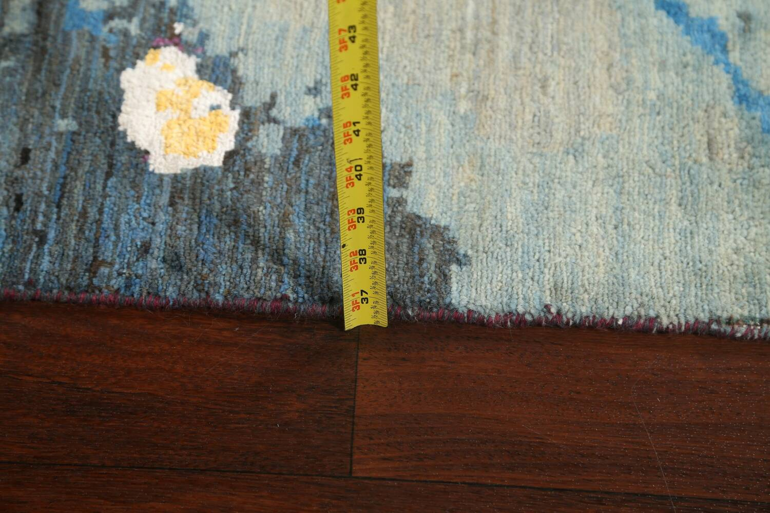 Artistic Contemporary Abstract Oriental Runner Rug 3x9 image 19
