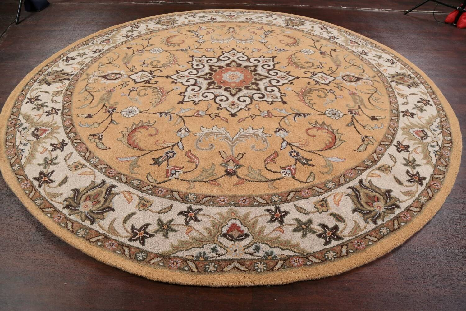 Floral Round Rug 10x10 image 10