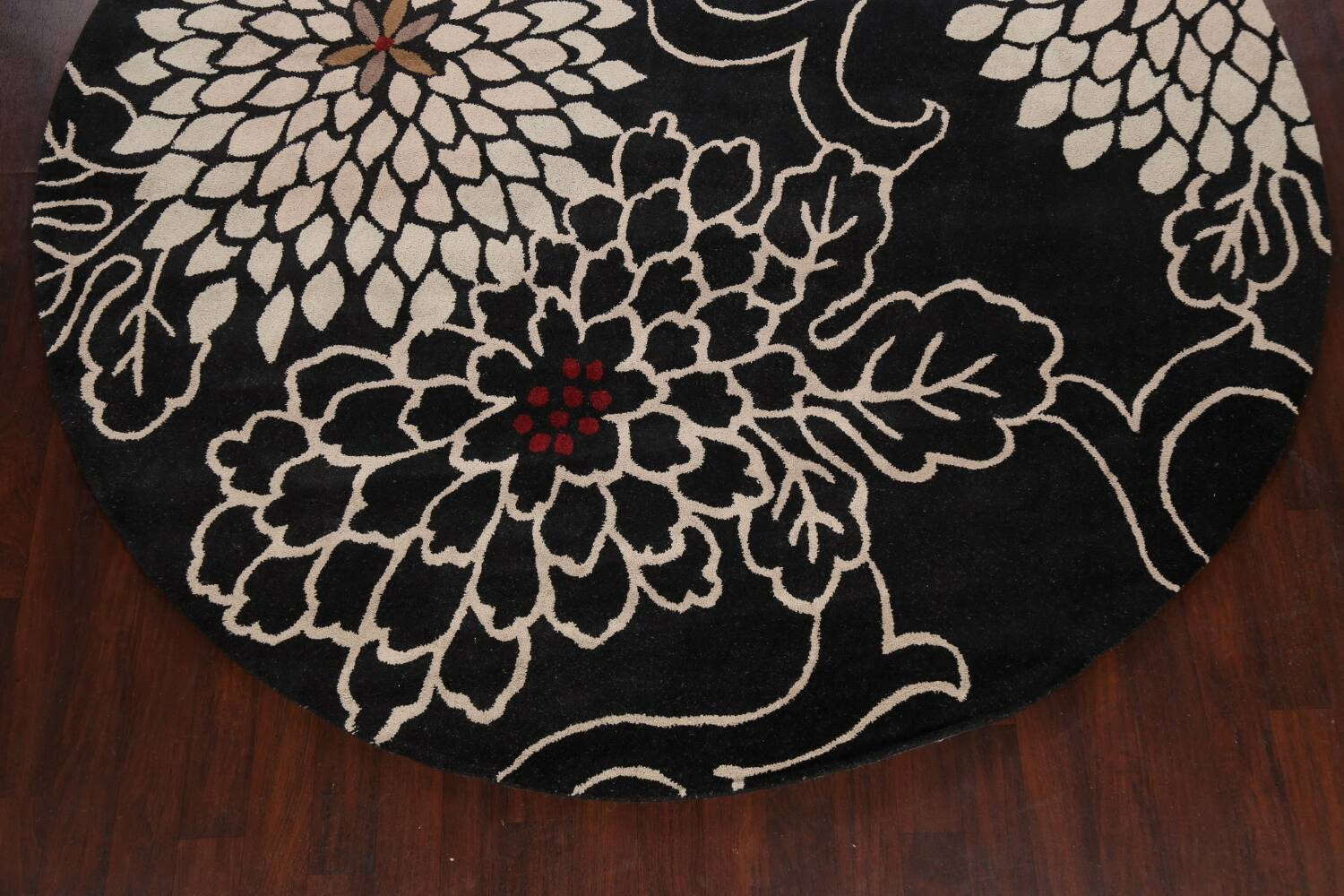 Floral Round Rug 10x10 image 5