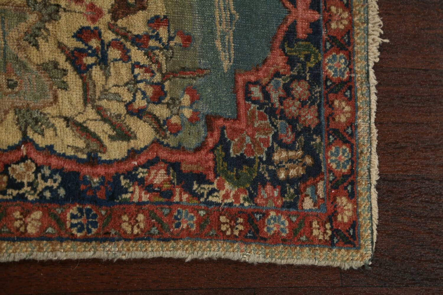 Vegetable Dye Pictorial Tabriz Persian Area Rug 2x2 Square image 13