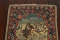 Vegetable Dye Pictorial Tabriz Persian Area Rug 2x2 Square image 12