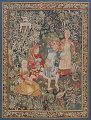 All-Over Pictorial Tapestries Oriental Area Rug 6x8 image 1