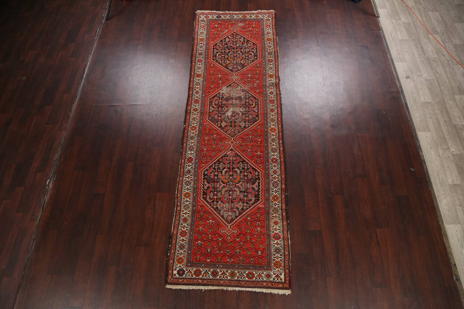 Antique Vegetable Dye Malayer Persian Runner Rug 3x11 image 2