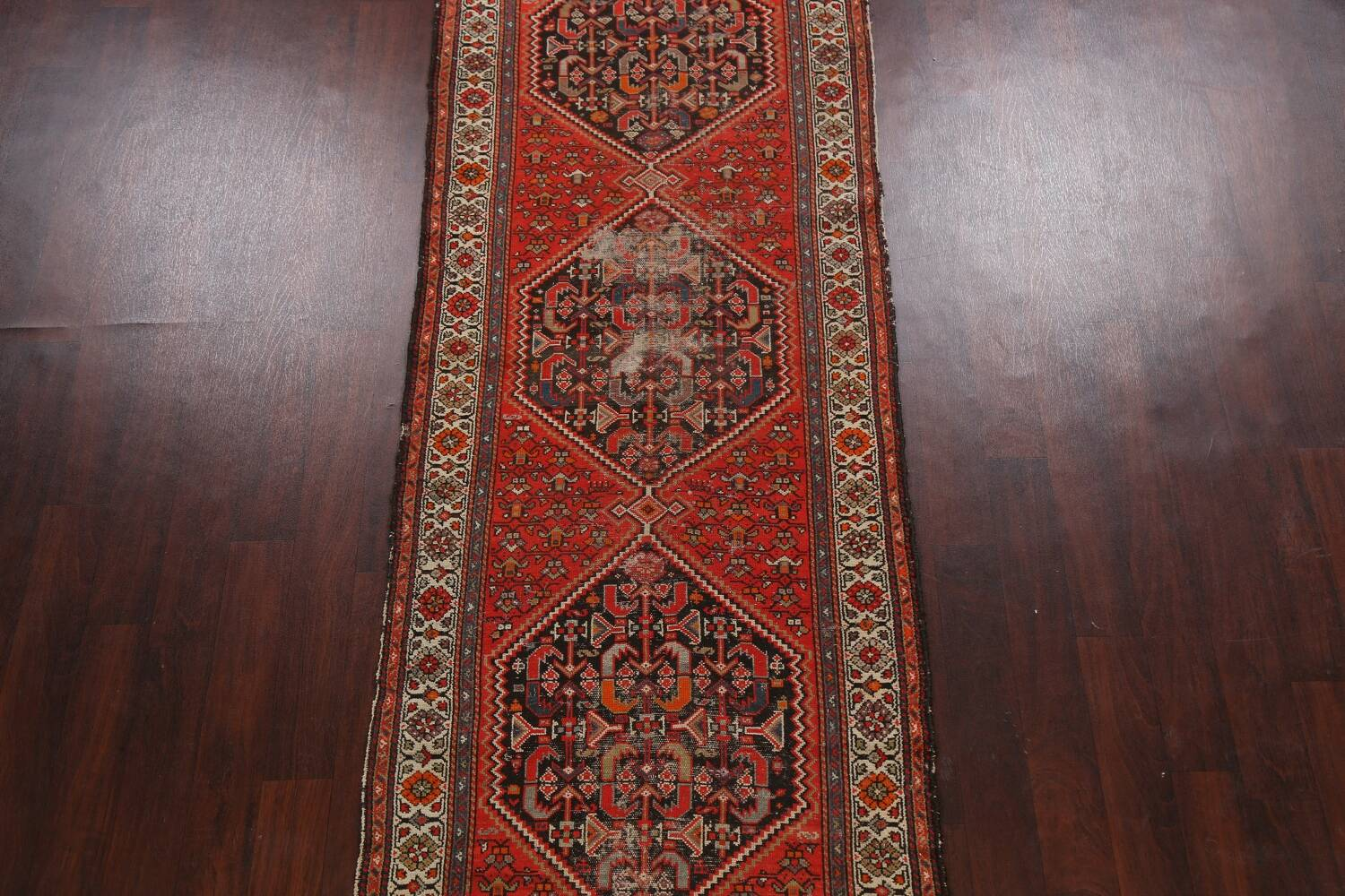 Antique Vegetable Dye Malayer Persian Runner Rug 3x11 image 3