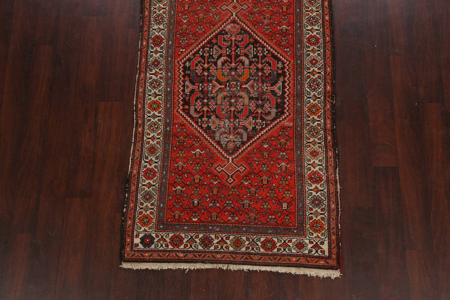 Antique Vegetable Dye Malayer Persian Runner Rug 3x11 image 8