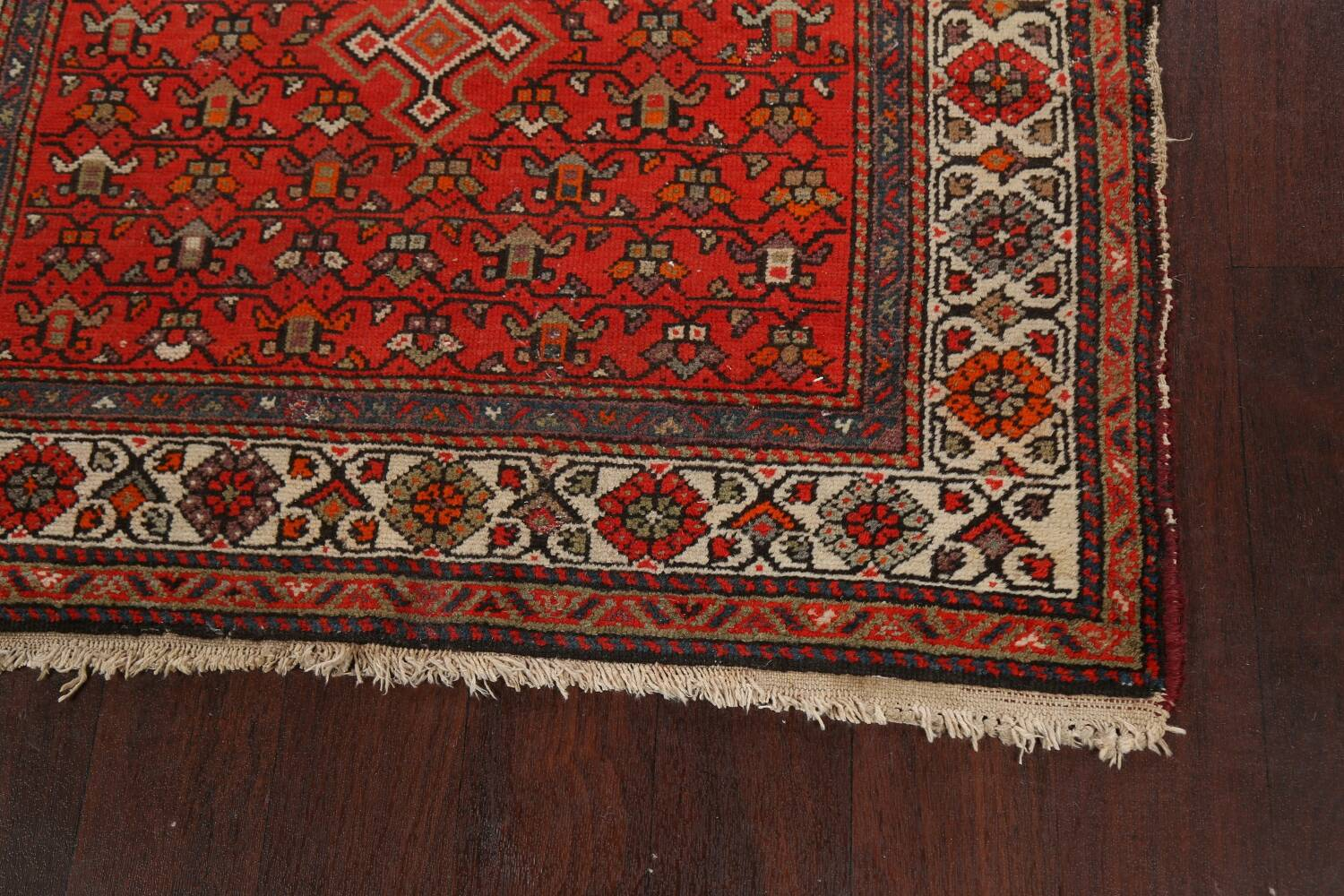 Antique Vegetable Dye Malayer Persian Runner Rug 3x11 image 5