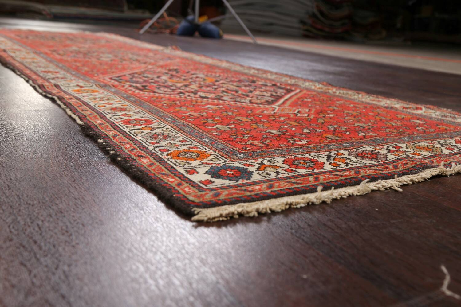 Antique Vegetable Dye Malayer Persian Runner Rug 3x11 image 6