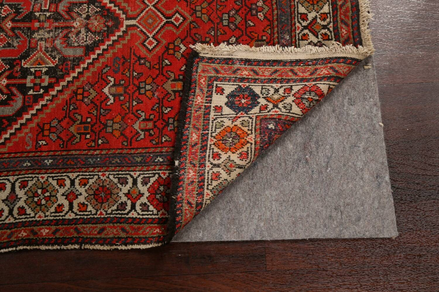 Antique Vegetable Dye Malayer Persian Runner Rug 3x11 image 7