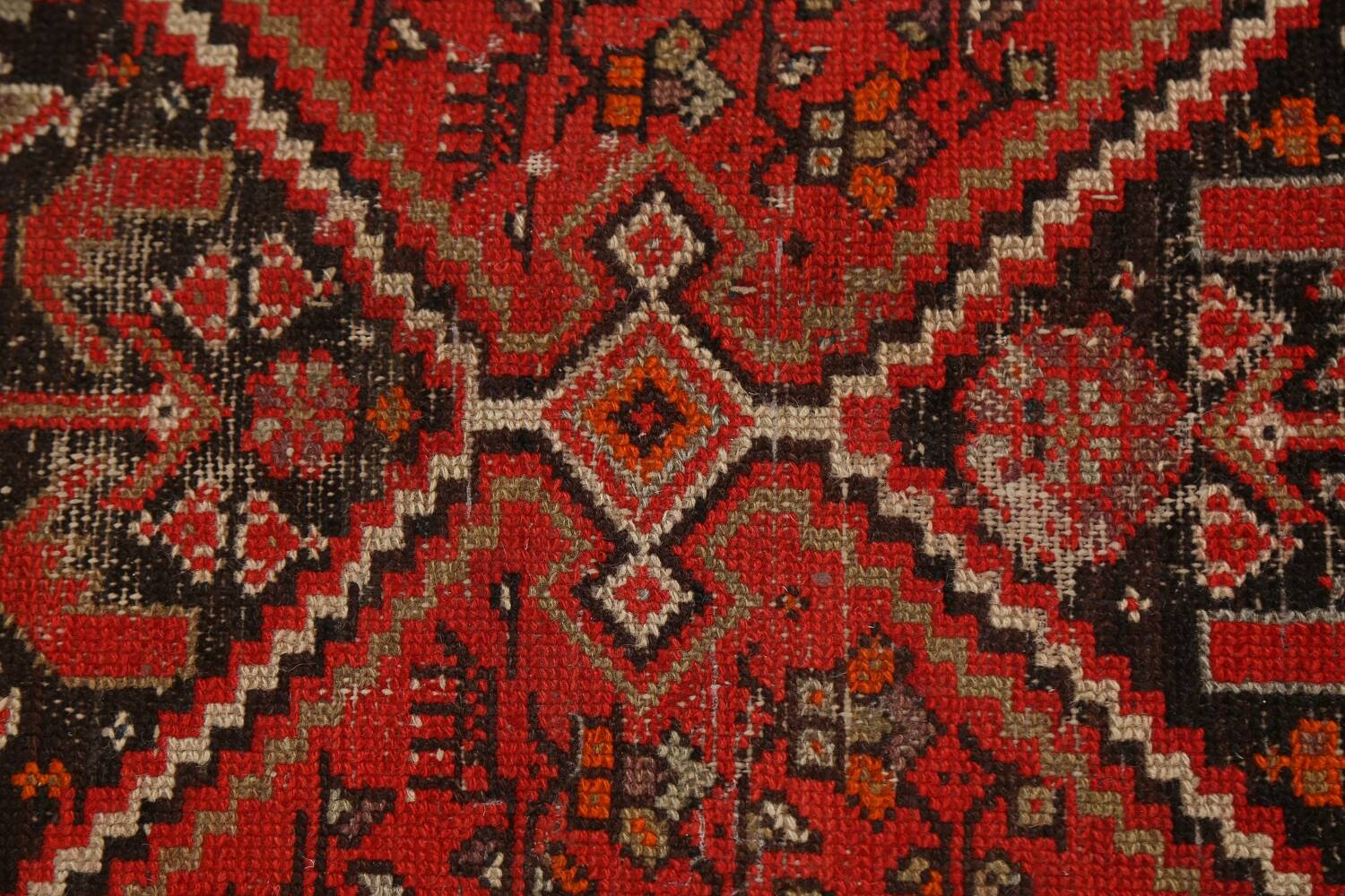 Antique Vegetable Dye Malayer Persian Runner Rug 3x11 image 9