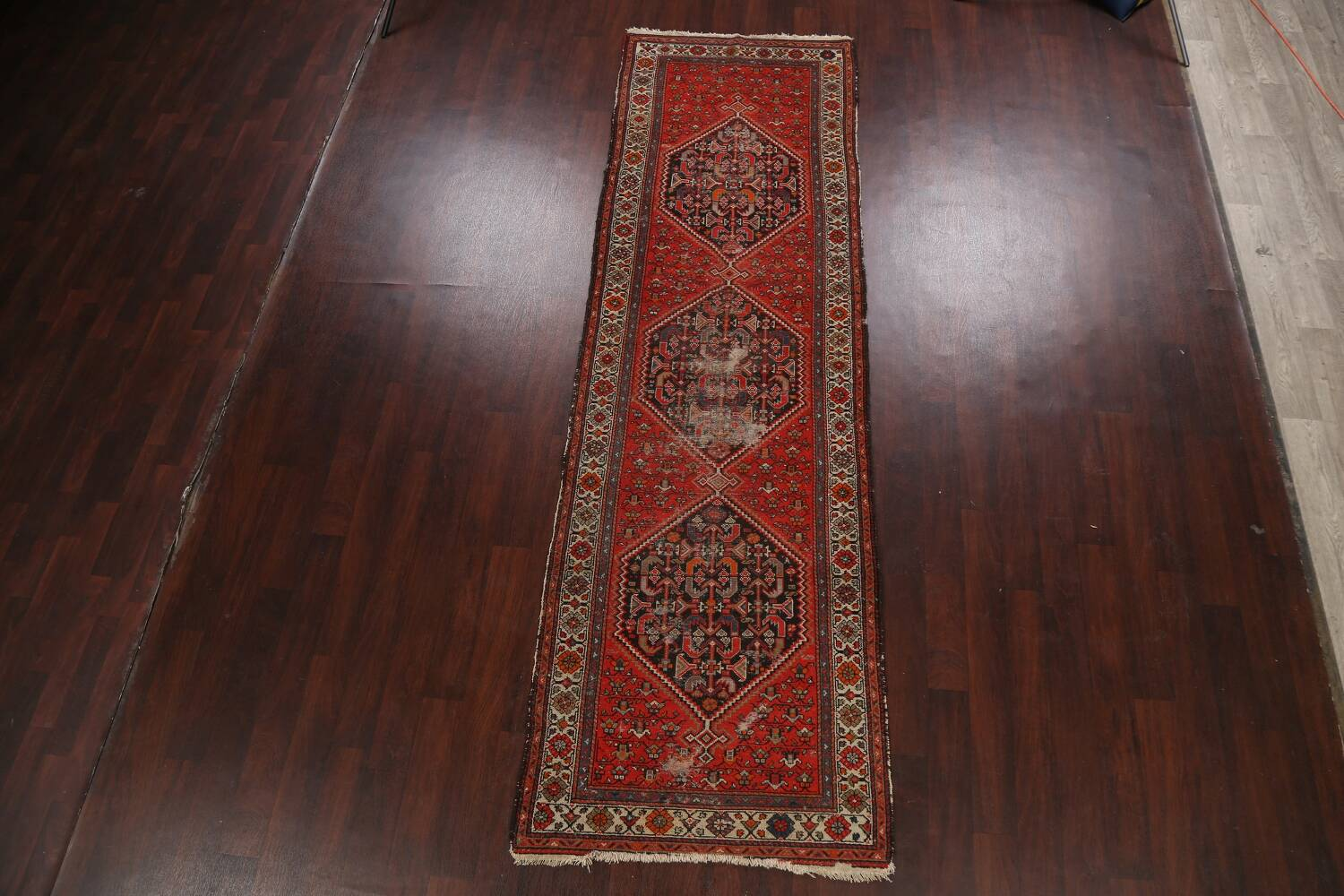 Antique Vegetable Dye Malayer Persian Runner Rug 3x11 image 14