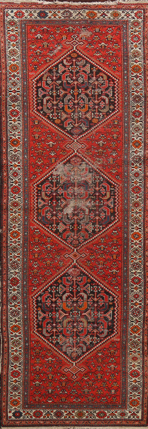 Antique Vegetable Dye Malayer Persian Runner Rug 3x11 image 1