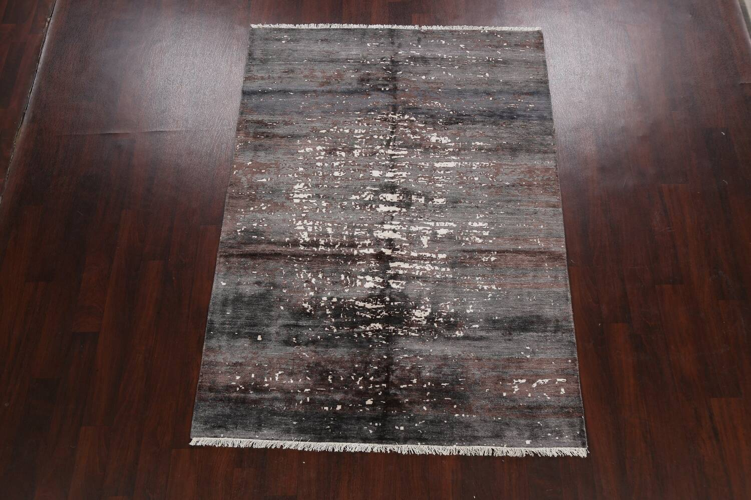 Artistic Contemporary Abstract Oriental Area Rug 5x7 image 2