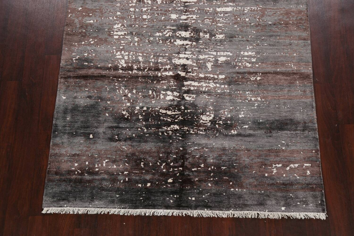 Artistic Contemporary Abstract Oriental Area Rug 5x7 image 8