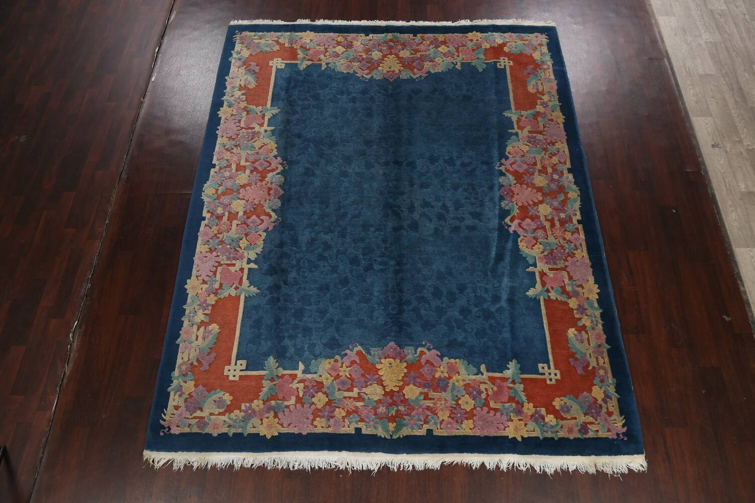 Vegetable Dye Floral Art Deco Nichols Oriental Area Rug 8x10 image 14