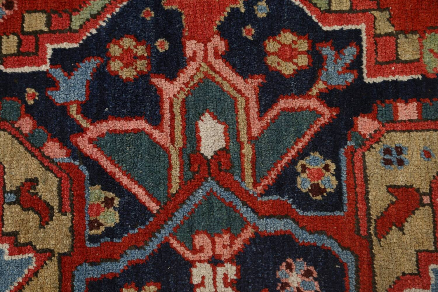 Pre-1900 Antique Vegetable Dye Heriz Serapi Persian Area Rug 10x13 image 9