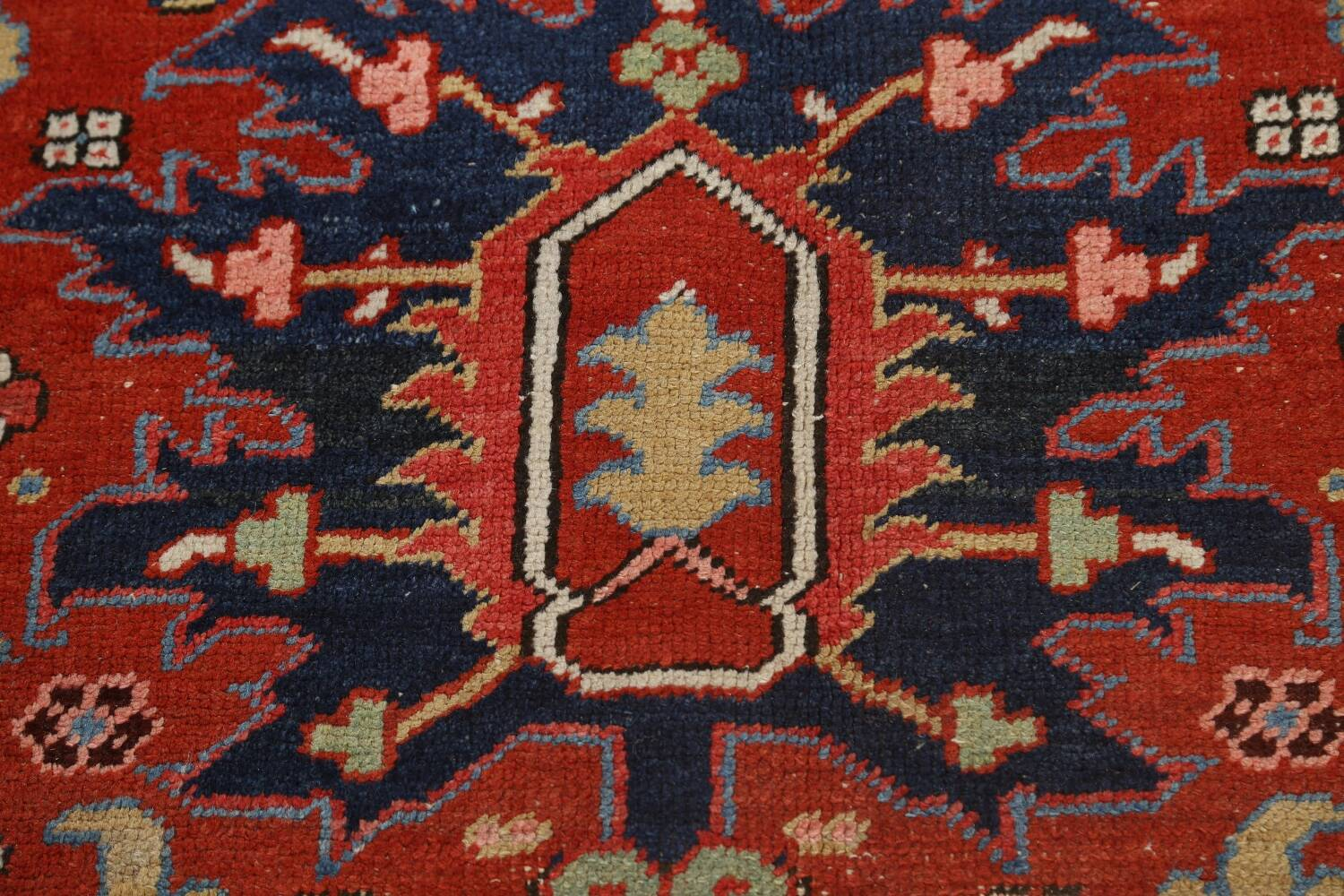 Pre-1900 Antique Vegetable Dye Heriz Serapi Persian Area Rug 10x13 image 10