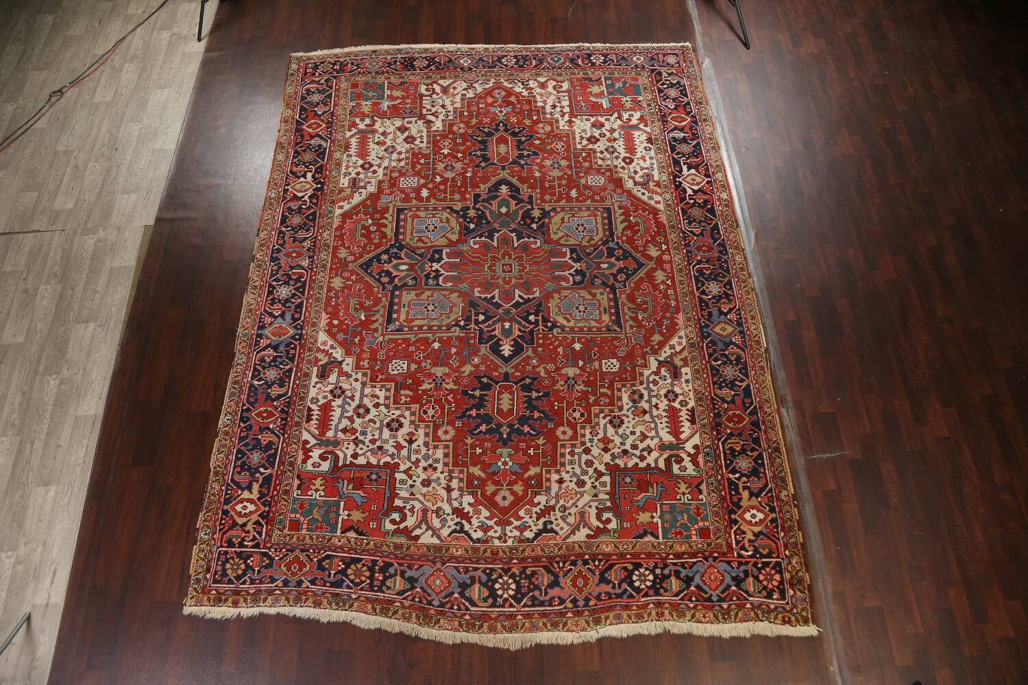 Pre-1900 Antique Vegetable Dye Heriz Serapi Persian Area Rug 10x13 image 19