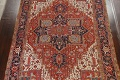 Pre-1900 Antique Vegetable Dye Heriz Serapi Persian Area Rug 10x13 image 3