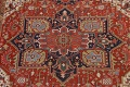 Pre-1900 Antique Vegetable Dye Heriz Serapi Persian Area Rug 10x13 image 4