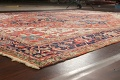 Pre-1900 Antique Vegetable Dye Heriz Serapi Persian Area Rug 10x13 image 6
