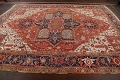 Pre-1900 Antique Vegetable Dye Heriz Serapi Persian Area Rug 10x13 image 18