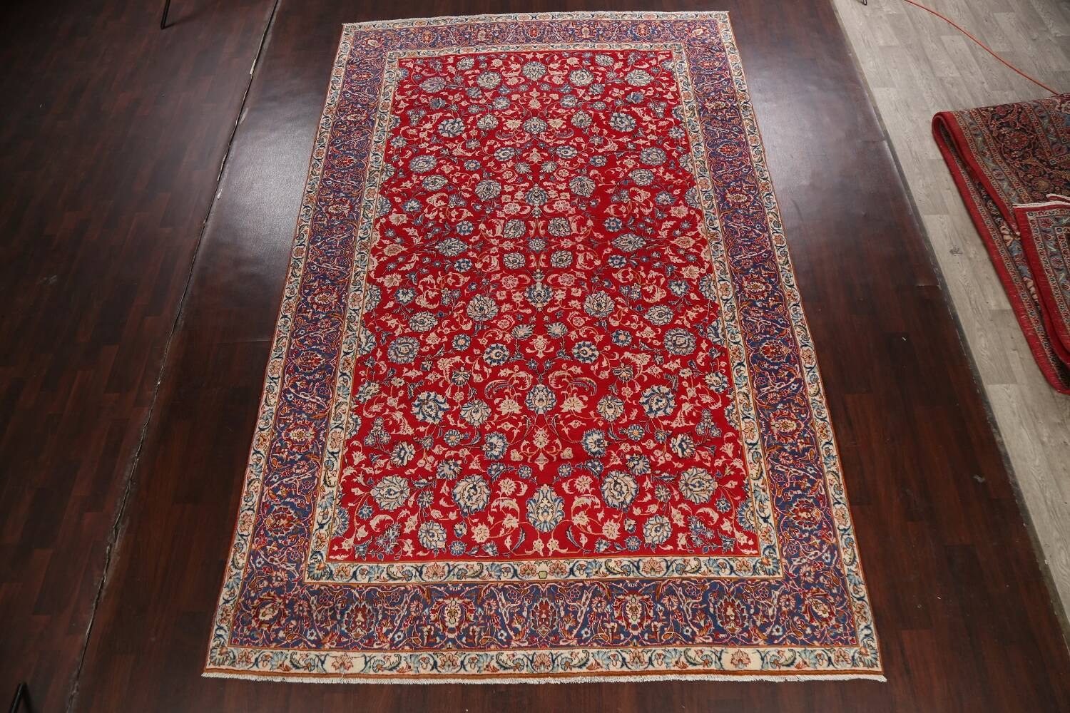 All-Over Floral Najafabad Persian Area Rug 8x13 image 2