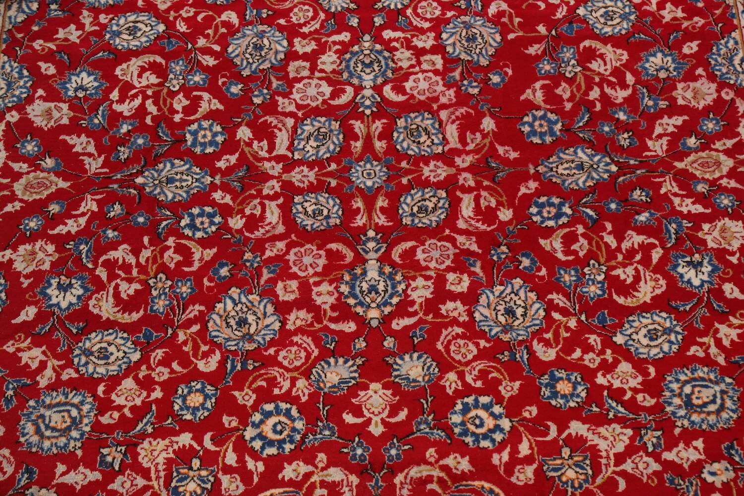 All-Over Floral Najafabad Persian Area Rug 8x13 image 4
