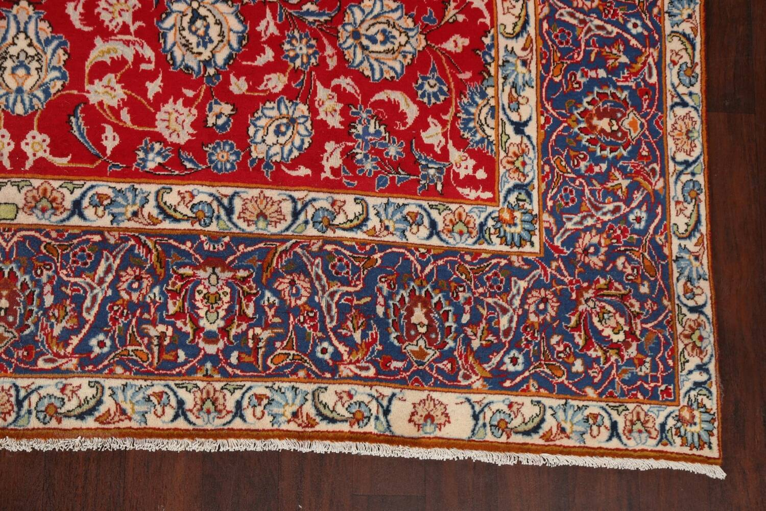 All-Over Floral Najafabad Persian Area Rug 8x13 image 5