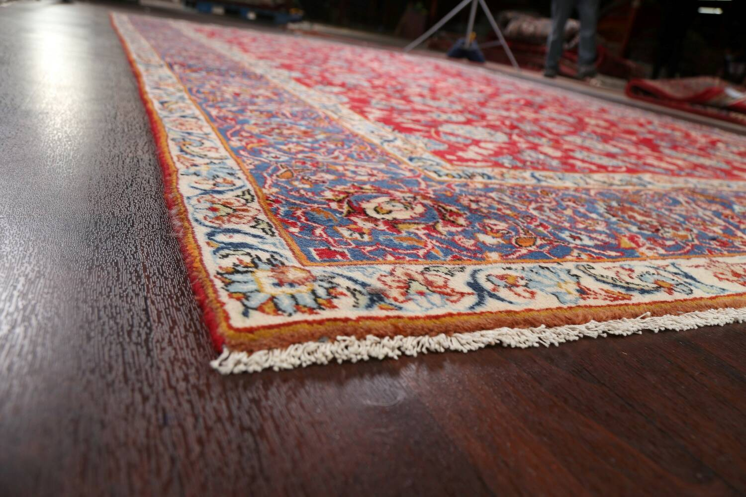 All-Over Floral Najafabad Persian Area Rug 8x13 image 6