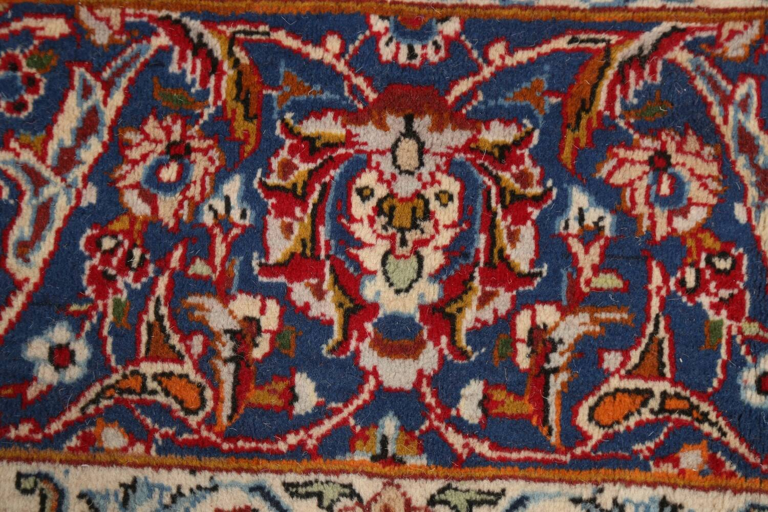 All-Over Floral Najafabad Persian Area Rug 8x13 image 9