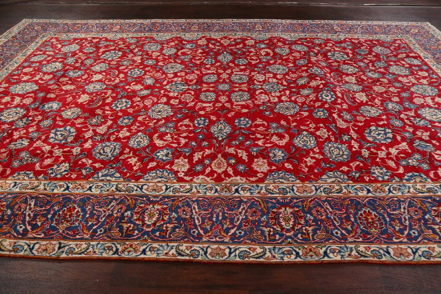 All-Over Floral Najafabad Persian Area Rug 8x13 image 15
