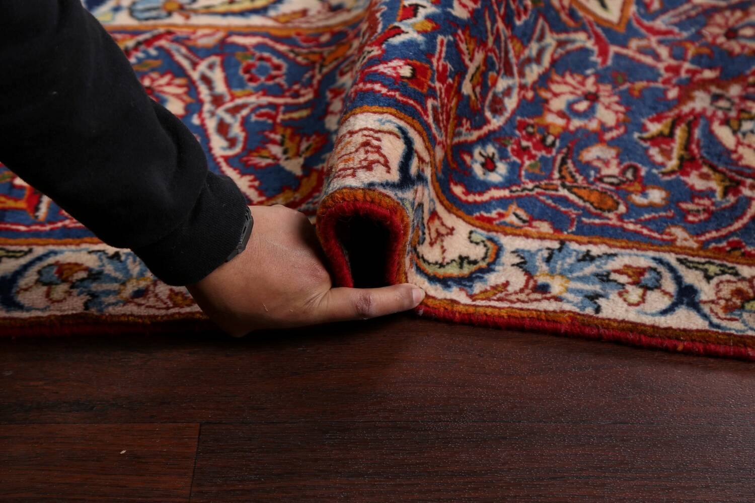 All-Over Floral Najafabad Persian Area Rug 8x13 image 19