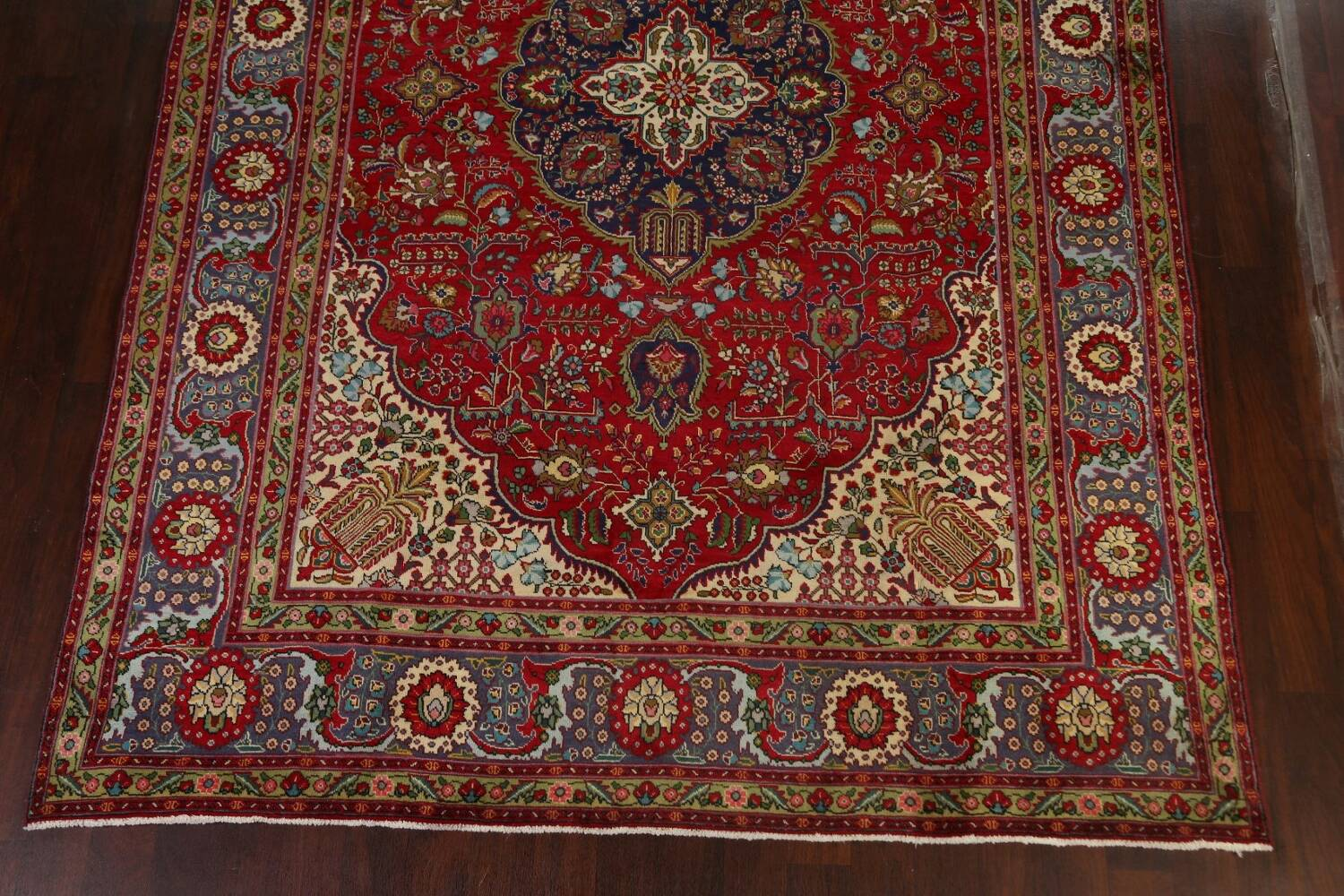 Floral Red Tabriz Persian Area Rug 8x12 image 8