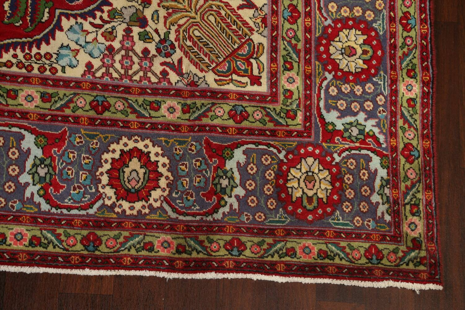 Floral Red Tabriz Persian Area Rug 8x12 image 5