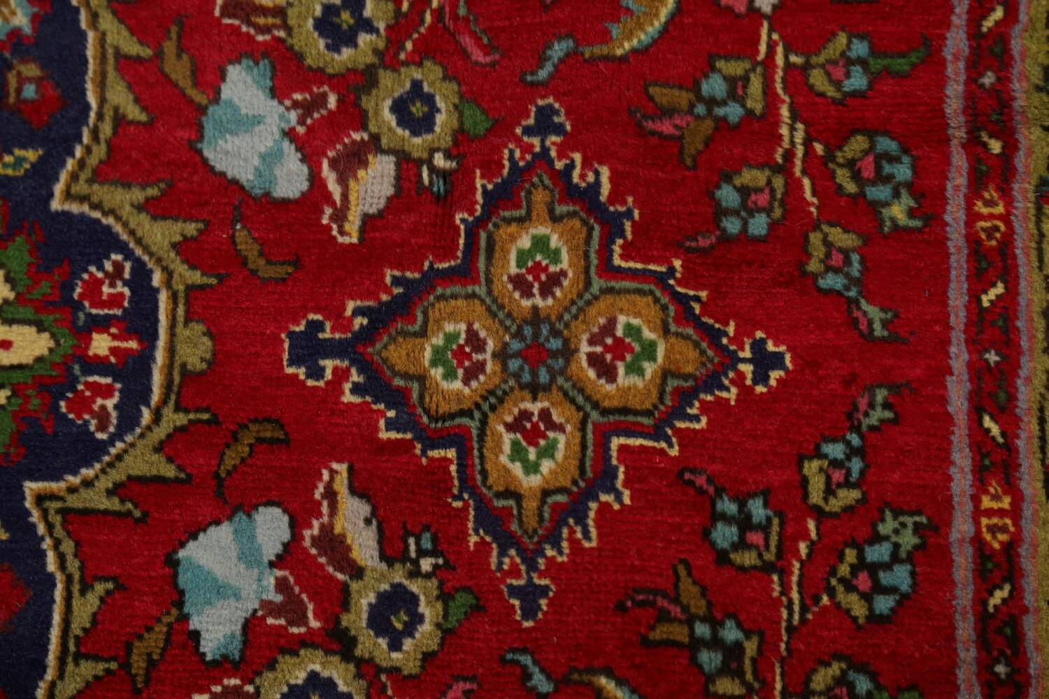 Floral Red Tabriz Persian Area Rug 8x12 image 10