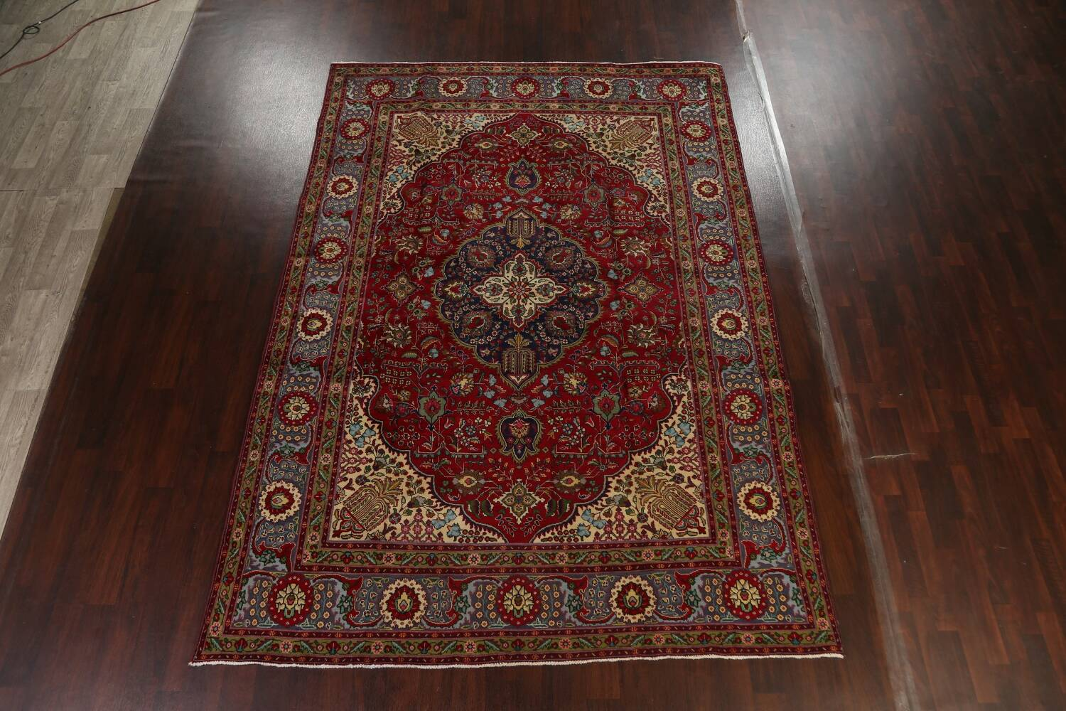 Floral Red Tabriz Persian Area Rug 8x12 image 19