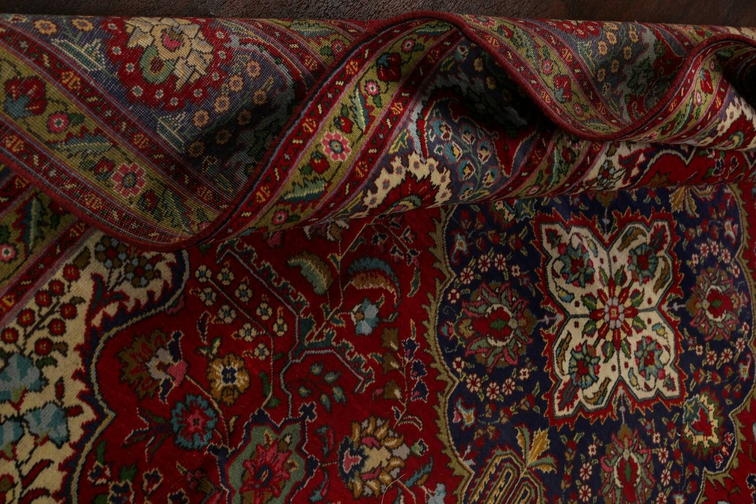 Floral Red Tabriz Persian Area Rug 8x12 image 21