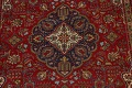 Floral Red Tabriz Persian Area Rug 8x12 image 4