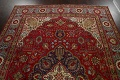 Floral Red Tabriz Persian Area Rug 8x12 image 13