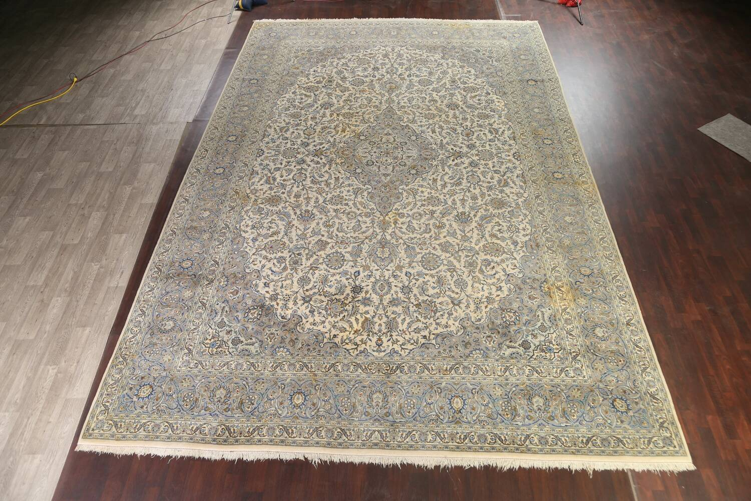 Traditional Floral Kashan Persian Area Rug 13x20 image 2
