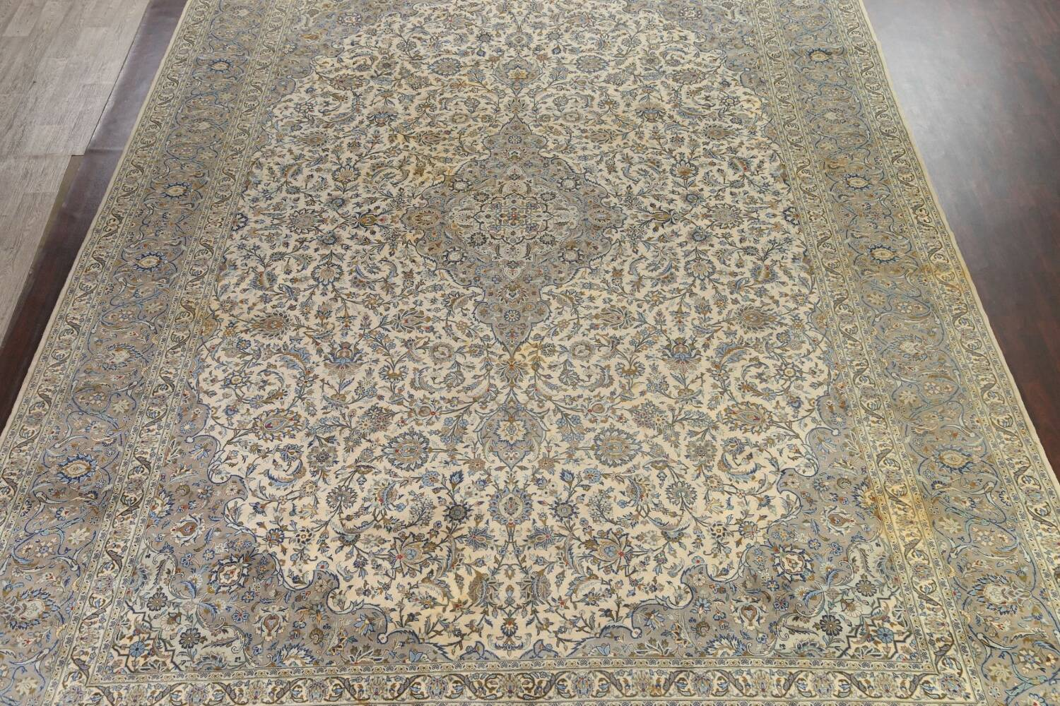 Traditional Floral Kashan Persian Area Rug 13x20 image 3
