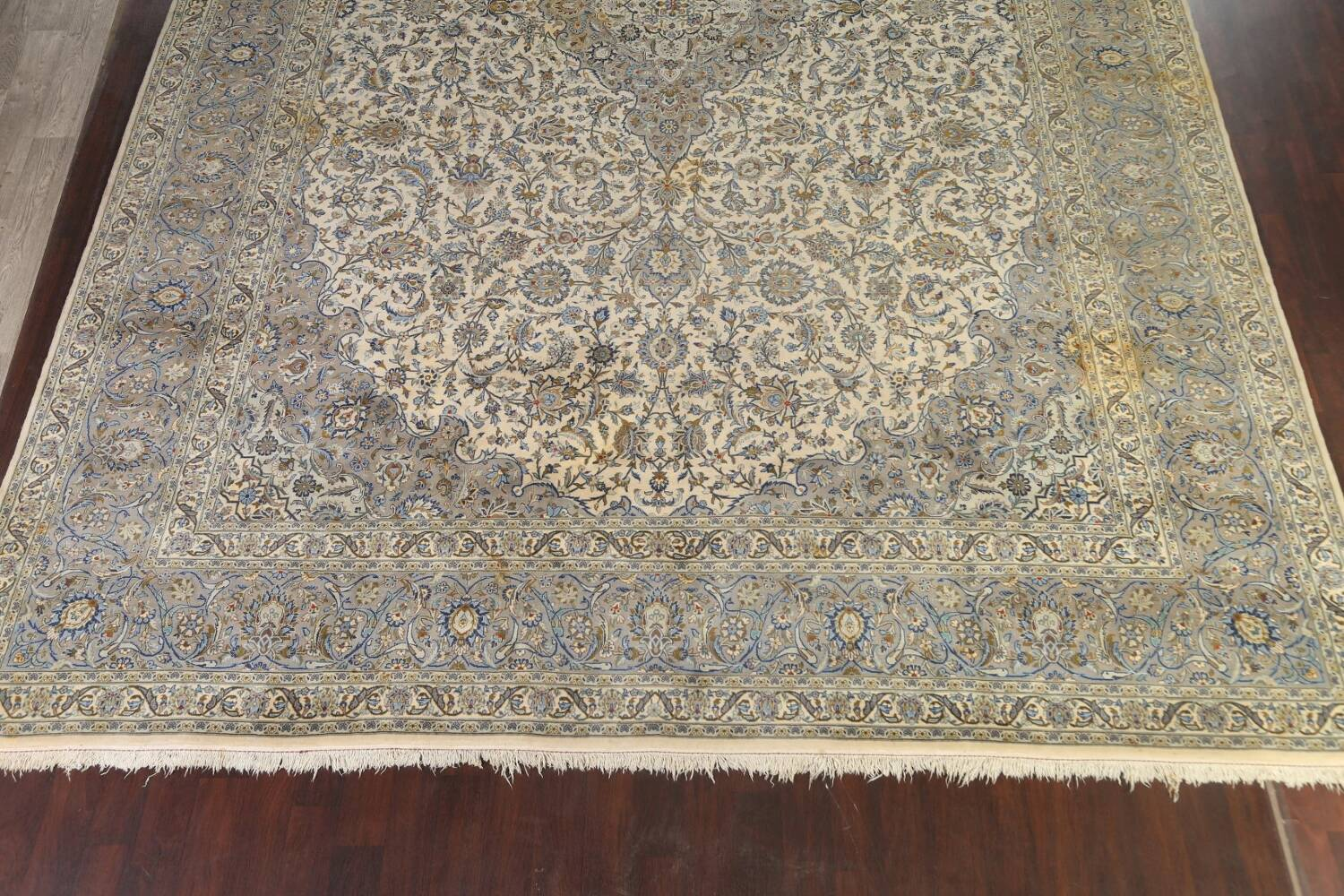Traditional Floral Kashan Persian Area Rug 13x20 image 8
